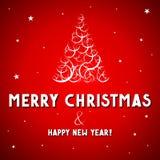 Рождественская открытка - с Рождеством Христовым иллюстрация штока