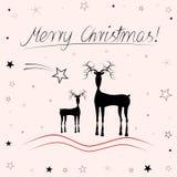 Рождественская открытка - с Рождеством Христовым иллюстрация вектора