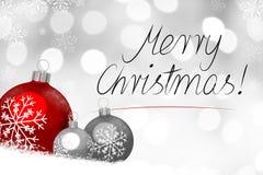 Рождественская открытка - с Рождеством Христовым бесплатная иллюстрация
