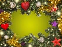 Рождественская открытка, украшения Стоковое Фото