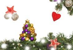 Рождественская открытка, украшения Стоковые Изображения