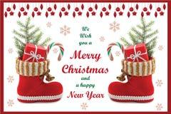 Рождественская открытка 02 Стоковая Фотография