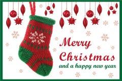 Рождественская открытка 04 Стоковые Изображения