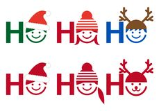 Рождественская открытка ho ho Ho, вектор Стоковое фото RF