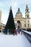 Рождественская ярмарка Будапешта в Будапеште, Венгрии, 2015 Стоковое фото RF