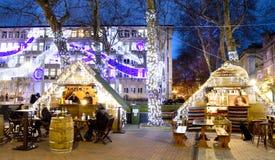 Рождественская ярмарка в Варне Стоковое Изображение RF