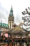 Рождественская ярмарка в Гамбурге, Германии Стоковые Изображения