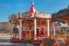 Рождественская ярмарка в Кольмаре Стоковое фото RF