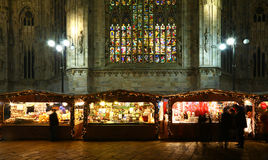 Рождественская ярмарка в милане стоковое фото rf
