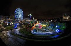 Рождественская ярмарка Эдинбурга стоковое фото rf