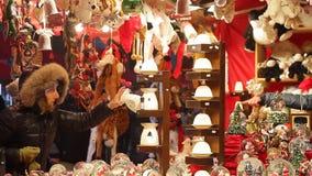 Рождественская ярмарка сток-видео