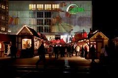 Рождественская ярмарка Alexanderplatz Стоковая Фотография