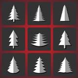Рождественские елки вырезывания Стоковые Изображения RF