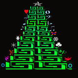 Рождественские елки значка Стоковые Фотографии RF