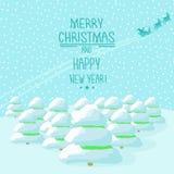 Рождественские елки иллюстрации Стоковая Фотография