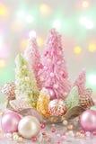 Рождественские елки покрашенные пастелью стоковое изображение rf