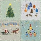Рождественские открытки иллюстрация вектора