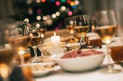 Рождественский ужин послужен Стоковое Изображение