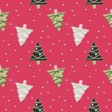 Рождество безшовное pattern-Pink2 Стоковое Изображение