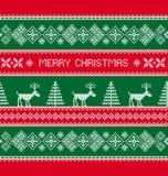 рождество веселое звезды абстрактной картины конструкции украшения рождества предпосылки темной красные белые Стоковые Фотографии RF