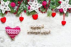 рождество веселое приветствие рождества карточки Стоковая Фотография RF