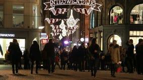 Рождество в Амстердаме, Голландии акции видеоматериалы