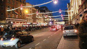 Рождество в Амстердаме, Голландии видеоматериал