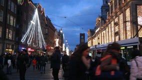 Рождество в Амстердаме, Голландии сток-видео