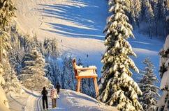 Рождество в зиме черного леса в снеге Todtnauberg Стоковые Изображения