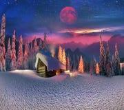 Рождество в Карпатах Стоковая Фотография