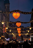 Рождество в Копенгагене на ноче Стоковые Фото