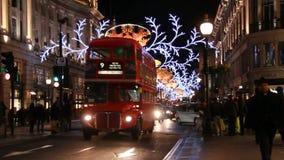 Рождество в Лондоне, Великобритании сток-видео