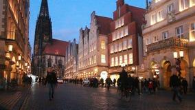 Рождество в Мунстер, Германии сток-видео