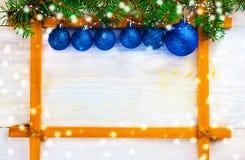 Рождество в рамке стоковая фотография