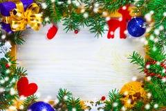 Рождество в рамке стоковые изображения