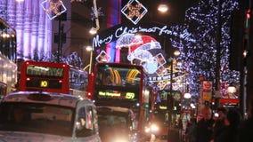 Рождество в улице Оксфорда Лондон акции видеоматериалы