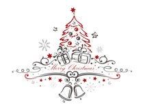 Рождество, дерево Стоковое Изображение
