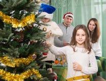 рождество детей украшает вал Стоковые Фото
