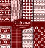 рождество делает по образцу безшовное вектор комплекта сердец шаржа приполюсный иллюстрация вектора