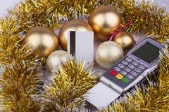 Рождество дела стержня оплаты, кредита Стоковые Изображения