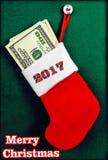 Рождество запасая вполне доллара рождество веселое 2017 Стоковая Фотография RF