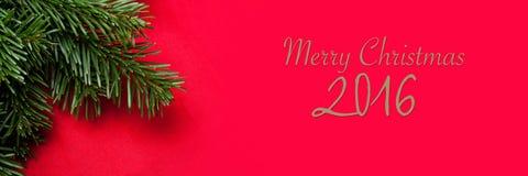 рождество знамени веселое Стоковые Фотографии RF