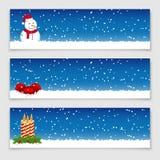 рождество знамен изолировало комплект Стоковое Фото