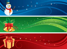 рождество знамен изолировало комплект Стоковые Фотографии RF