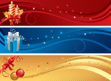 рождество знамен изолировало комплект бесплатная иллюстрация