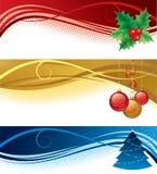 рождество знамен изолировало комплект иллюстрация вектора