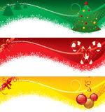 рождество знамен изолировало комплект Стоковое Изображение