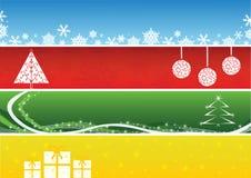 рождество знамен изолировало комплект Стоковая Фотография RF