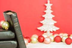 Рождество и библия Стоковое фото RF