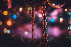 Рождество и запачканная Новым Годом предпосылка bokeh Стоковое фото RF